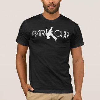 Parkourフリップ白のTシャツ Tシャツ