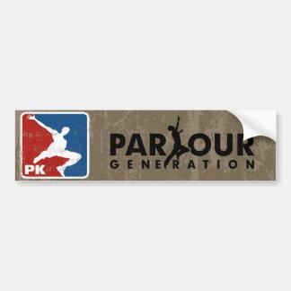 Parkour バンパーステッカー