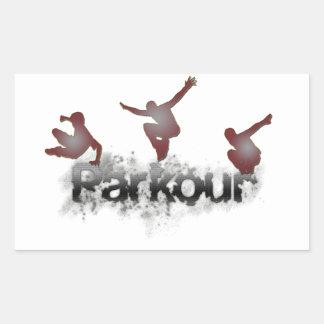 Parkour 長方形シール