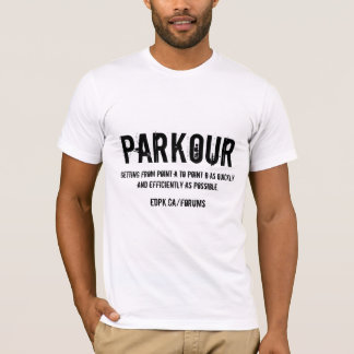 Parkour-青いT Tシャツ