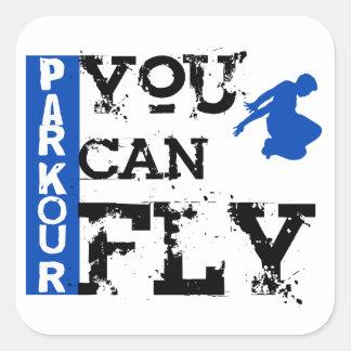 Parkour -飛ぶことができます スクエアシール