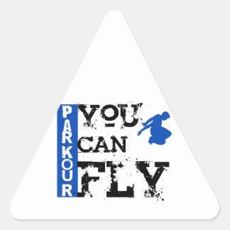 Parkour -飛ぶことができます 三角形シール