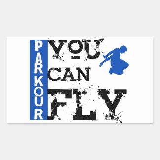 Parkour -飛ぶことができます 長方形シール