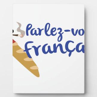 Parlez-vous Franaisか。 フォトプラーク