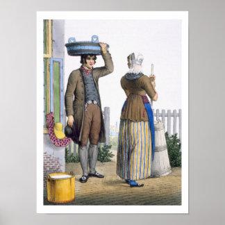 Parmerend、北ホラント州のilluの小作農のカップル ポスター
