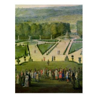 Parterre du Nordによるルイ14世の遊歩道 ポストカード