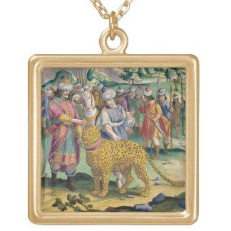 Parthiansのすばらしい王は彼のTamと捜します ゴールドプレートネックレス