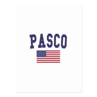 Pasco米国の旗 ポストカード