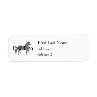 Paso Finoのシルエットの文字1 返信用宛名ラベル