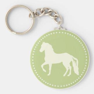 Paso Finoの馬のシルエット キーホルダー