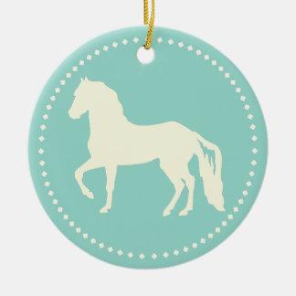 Paso Finoの馬のシルエット セラミックオーナメント