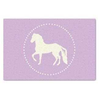 Paso Finoの馬のシルエット 薄葉紙
