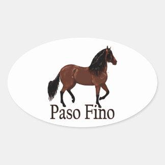 """Paso Fino湾""""Paso Fino """" 楕円形シール"""
