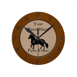 Paso Finos -それを個人化して下さい ラウンド壁時計
