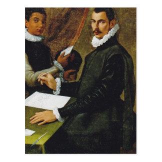 Passarotti著Dominico Giulianiおよび彼の使用人 ポストカード