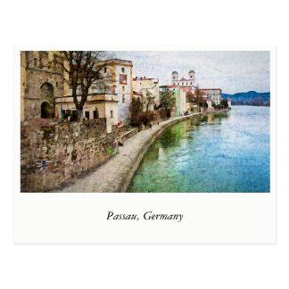 Passau、ドイツからの郵便はがき ポストカード