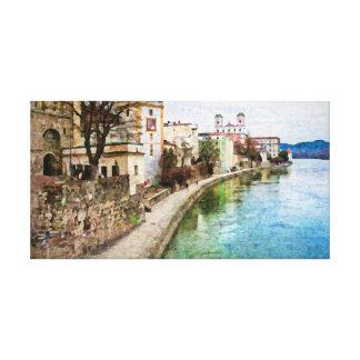 Passau、ドイツのCanevasのプリント キャンバスプリント