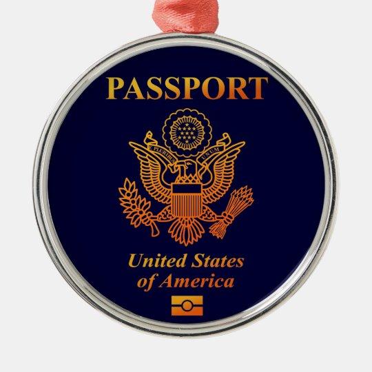PASSPORT(USA) メタルオーナメント