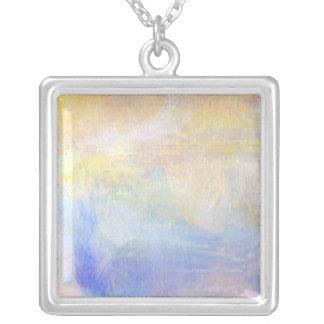 Pastel3大きい正方形の銀によってめっきされるネックレス シルバープレートネックレス