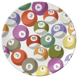 Pastel Billiards 磁器プレート