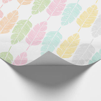Pastel Feathers Patterned Wrapping Paper ラッピングペーパー