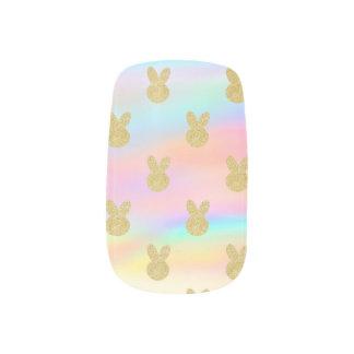 Pastel Glitter bunny ネイルアート
