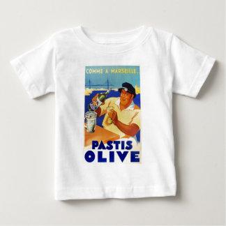 Pastisのオリーブ- Commeマルセーユ ベビーTシャツ