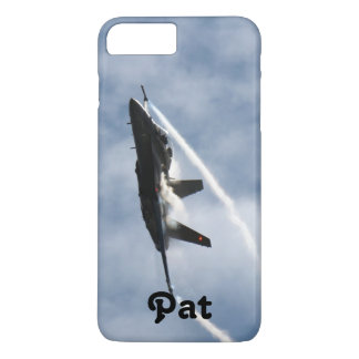 PatのためのF/A-18戦闘機の飛行機のエア・ショー iPhone 8 Plus/7 Plusケース