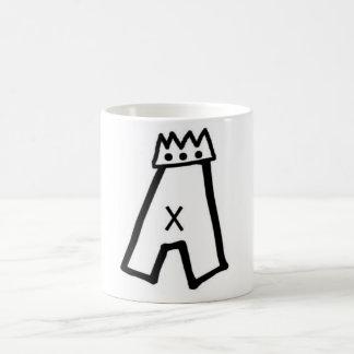 Pat Aldrichの王冠のロゴのマグ コーヒーマグカップ
