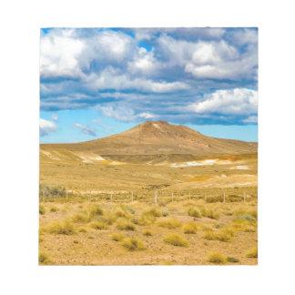 Patagonian景色場面、アルゼンチン ノートパッド