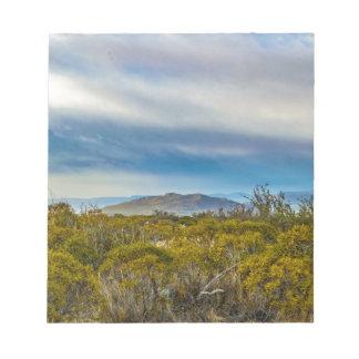 Patagonian景色場面、サンタクルス、アルゼンチン ノートパッド