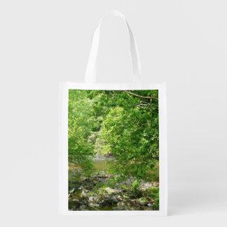 Patapscoの川の眺めのメリーランドの自然の写真撮影 エコバッグ