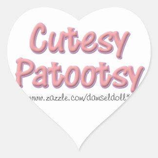 PatootsyのCutesyステッカー ハートシール