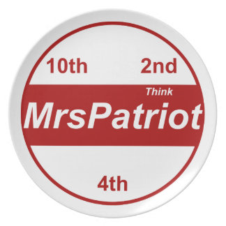 Patriotのプレート夫人 プレート
