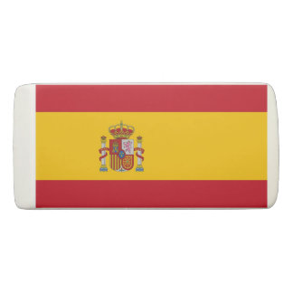 Patriotic Wedge Eraser with flag of Spain 消しゴム