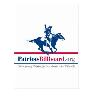 PatriotsBillboard.orgのサポートアメリカの価値 ポストカード