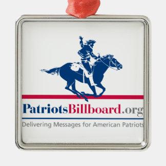 Patriotsbillboard.orgのサポートアメリカの価値 メタルオーナメント