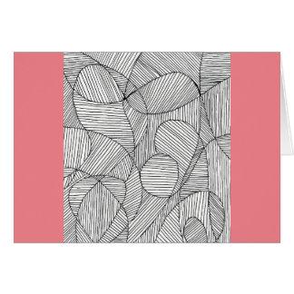 Patteren珊瑚および手描きのカード カード