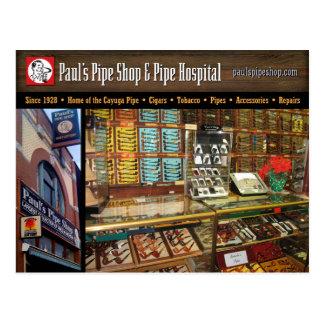 Paul's Pipe Shop Postcard ポストカード