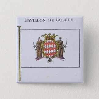 Pavillon de Guerreのモナコからの旗からの詳細 5.1cm 正方形バッジ