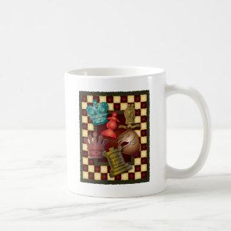 Pawnチェスのデザイン王クイーン・ナイトの司教 コーヒーマグカップ