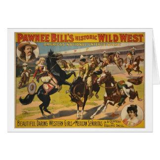 Pawneeのビルの野生の西ショー カード