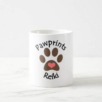 Pawprintsの霊気のロゴのコーヒー・マグ コーヒーマグカップ