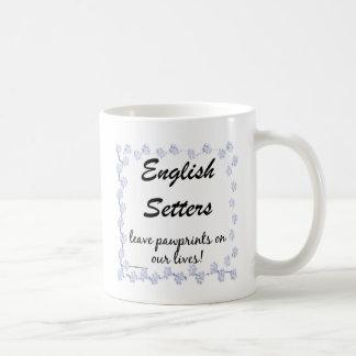 Pawprints英国セッター コーヒーマグカップ