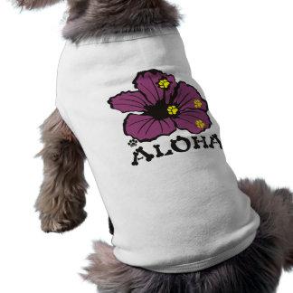 PawsID犬のワイシャツのアロハ紫色 ペット服