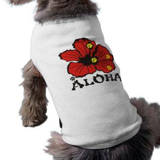 PawsID犬のワイシャツのアロハ赤い元のデザイン ペット服