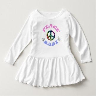 Paxspirationの平和ベビーの幼児のひだの服 ドレス