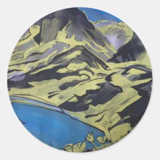 Paysage des Alpes 7 ラウンドシール