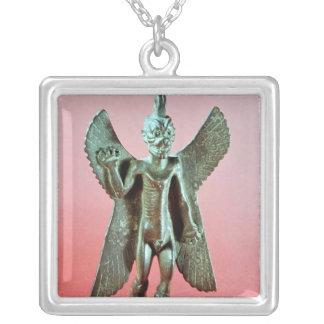 Pazuzuの小像、アッシリアの風の鬼 シルバープレートネックレス