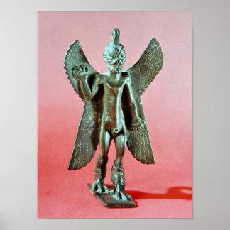 Pazuzuの小像、アッシリアの風の鬼 ポスター